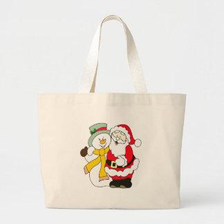 santa-claus large tote bag