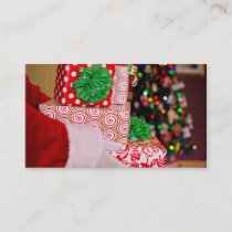 Santa Claus Leaving Presents Business Card