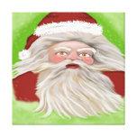 Santa Claus Lienzo Envuelto Para Galerias