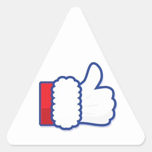 Santa Claus like icon Triangle Sticker