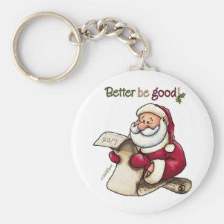 Santa Claus' List - Better Be Good Basic Round Button Keychain