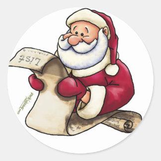 Santa Claus' List - Better Be Good Classic Round Sticker