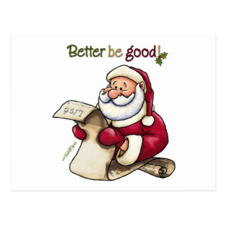 Santa Claus' List - Better Be Good Postcard