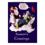 SANTA CLAUS, LITTLE ANGEL AND MERLIN XMAS PARTY GREETING CARDS