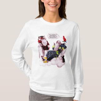 SANTA CLAUS ,LITTLE ANGEL& MERLIN Chrismas Party T-Shirt