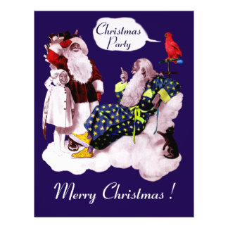 "SANTA CLAUS ,LITTLE ANGEL & MERLIN Christmas Party 8.5"" X 11"" Flyer"
