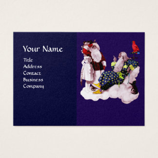 SANTA CLAUS ,LITTLE ANGEL & MERLIN Christmas Party Business Card