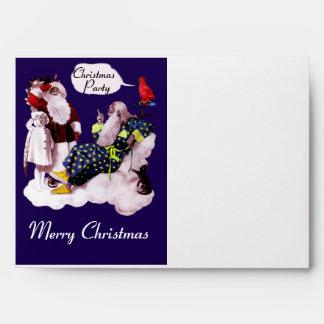 SANTA CLAUS, LITTLE ANGEL & MERLIN Christmas Party Envelope