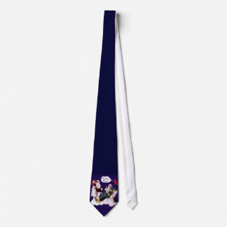 SANTA CLAUS ,LITTLE ANGEL & MERLIN Christmas Party Tie