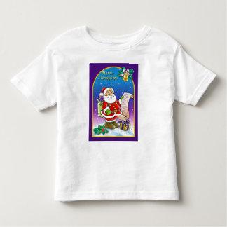 Santa Claus looking at Christmas Wish List T Shirt
