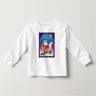 Santa Claus looking at Christmas Wish List T-shirt
