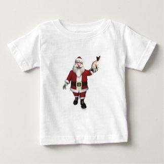 Santa Claus Loves Siamese Cats Baby T-Shirt