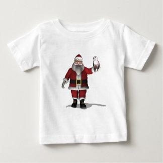 Santa Claus Loves Snowy Owl Baby T-Shirt