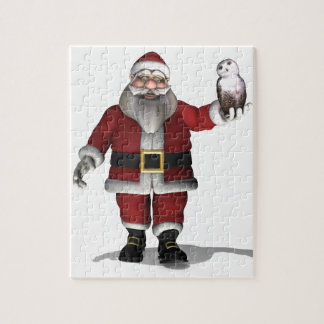 Santa Claus Loves Snowy Owl Puzzle