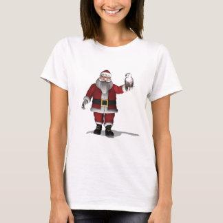 Santa Claus Loves Snowy Owl T-Shirt
