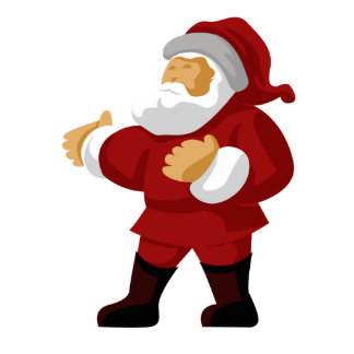 Santa Claus Magnet Standing Photo Sculpture