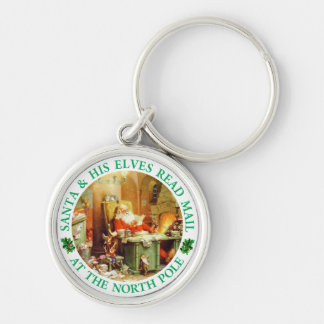 Santa Claus, Making his list, Checking it Twice Keychain