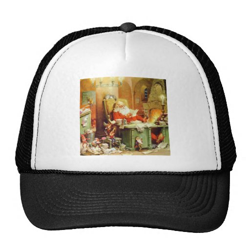 Santa Claus Making His List, Checking It Twice Trucker Hat