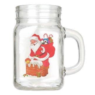 Santa Claus Mason Jars