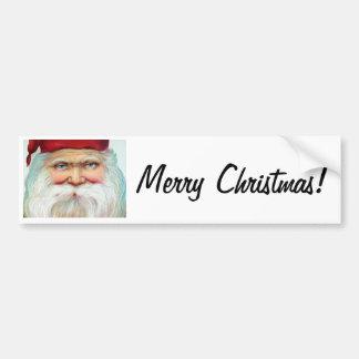 Santa Claus Merry Christmas Bumper Stickers
