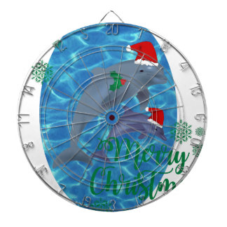 santa claus merry christmas dolphins dartboard