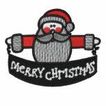 Santa Claus Merry Christmas embroidered mens shirt Polo Shirt