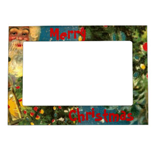 Santa Claus Merry Christmas Fridge Magnet Frame