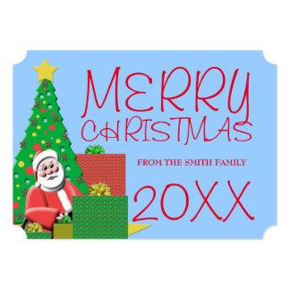 Santa Claus Merry Christmas Holiday Card