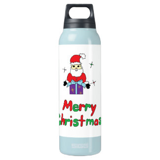Santa Claus Merry Christmas Insulated Water Bottle