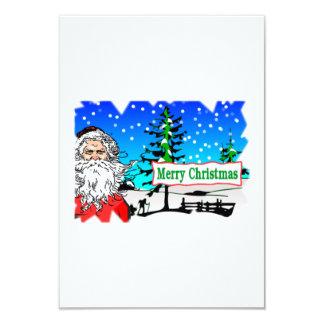 "Santa Claus Merry Christmas 3.5"" X 5"" Invitation Card"