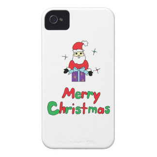 Santa Claus Merry Christmas iPhone 4 Case-Mate Cases