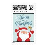 Santa Claus Merry Christmas Postage Stamps