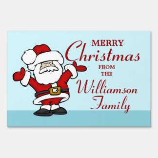 Santa Claus Merry Christmas Sign