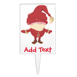 Santa Claus Merry Elf Cake Toppers