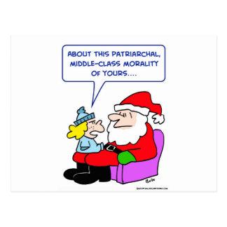 santa claus middle-class patriarchal morality postcard