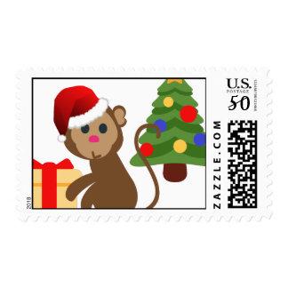 santa claus monkey emoji postage