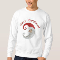 Santa Claus Moon Embroidered Sweatshirt