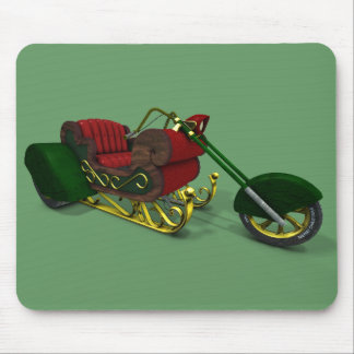 Santa Claus Motor Trike Sledge Mouse Pad