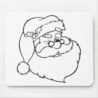 Santa claus mouse pad