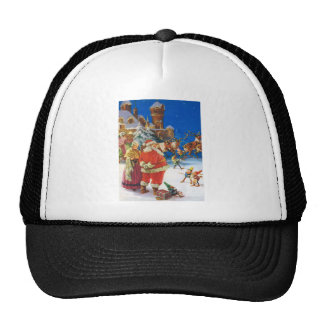 SANTA CLAUS & MRS. CLAUS AT THE NORTH POLE TRUCKER HAT