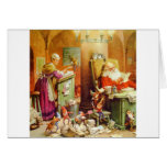 Santa Claus & Mrs Claus in the North Pole Mailroom Greeting Card