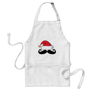 Santa Claus Mustache Shirt.png Adult Apron