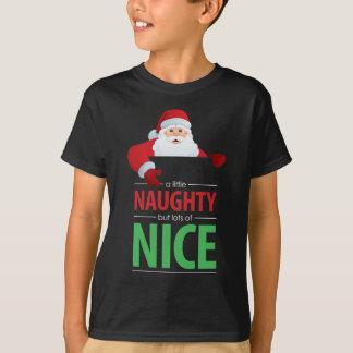 Santa Claus Naughty and Nice Kid's Dark T-Shirt