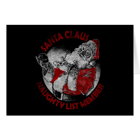 Santa Claus Naughty List Member Card