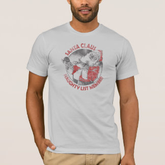 Santa Claus Naughty List Member T-Shirt