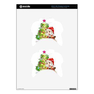 Santa Claus near the christmas tree Xbox 360 Controller Skin