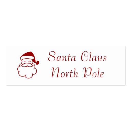 Santa Claus North Pole Business Card Templates