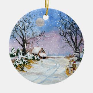 Santa Claus North Pole Christmas Ornaments