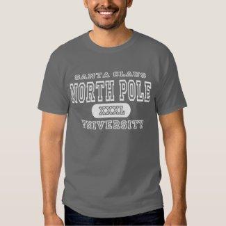 Santa Claus North Pole University Dark T Shirts