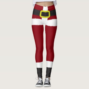 Christmas Themed Santa Claus Novelty Christmas Leggings
